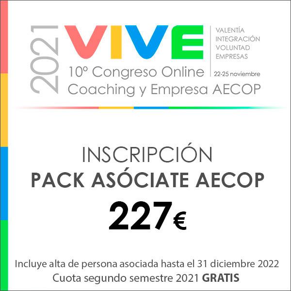 Inscripción Congreso Online AECOP 2021 pack asóciate