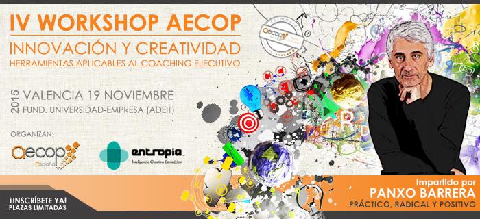 IV Workshop AECOP: Innovación y Creatividad con Panxo Barrera