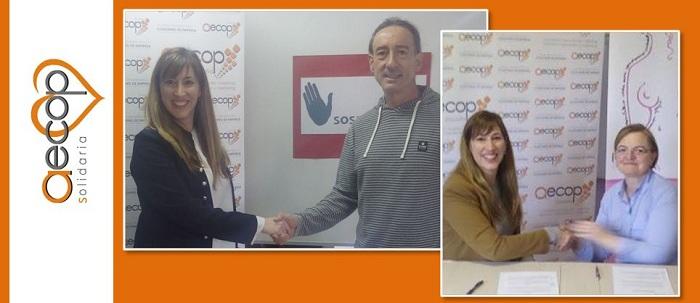 Aecop Solidaria firma dos nuevos convenios en Aragón