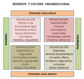 Test de Benziger con la cultura organizacional