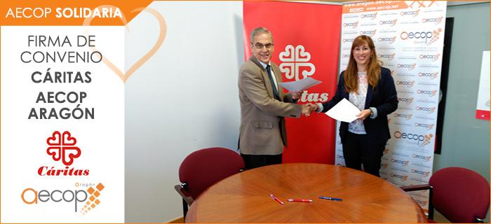 Aecop Solidaria firma un nuevo convenio en Aragón