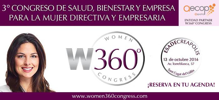 DESCUENTO PARA SOCIOS AECOP EN EL WOMEN 360º CONGRESS