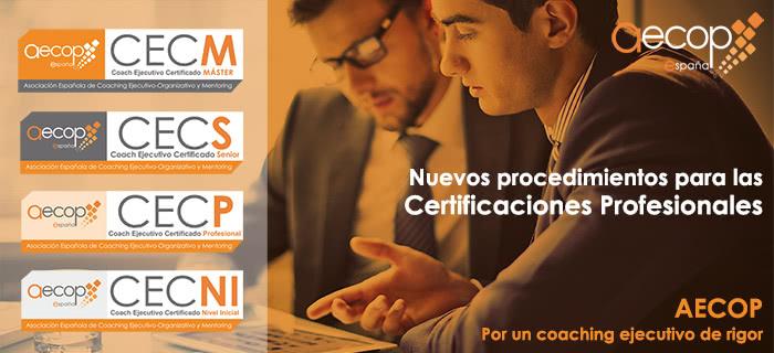 Nuevo Modelo de Certificaciones Profesionales AECOP