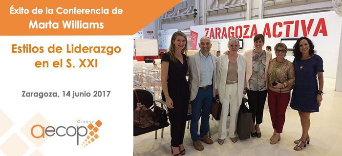 Éxito de la conferencia de Marta Williams en Zaragoza