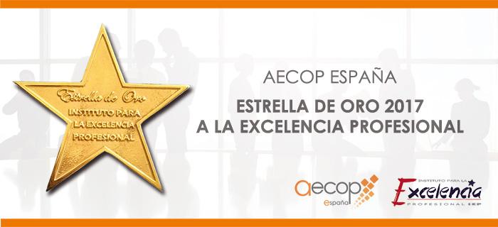 AECOP premiada con la Estrella de Oro a la Excelencia Profesional