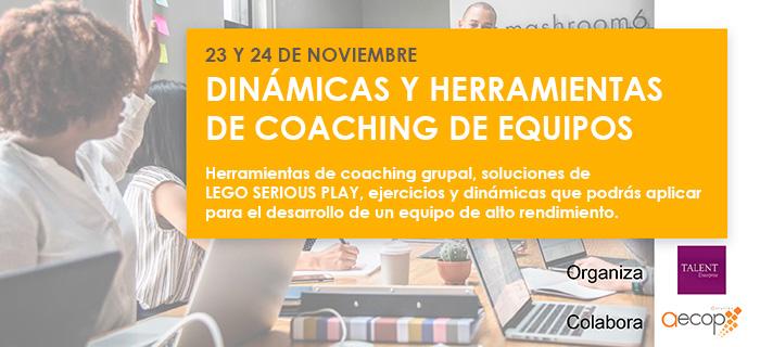 AECOP Asturias organiza el Seminario práctico, Dinámicas y Herramientas de Coaching para Equipos.