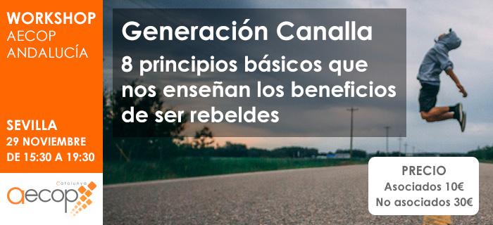 """AECOP Andalucía organiza el Workshop """"Generación Canalla"""""""