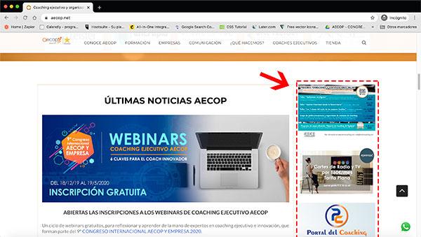 publicidad en web aecop
